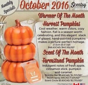 Scentsy October's warmer and scent of the month