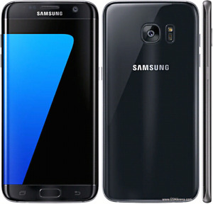 Unlocked Samsung galaxy S7 32 GB with case, charger, and earbud