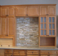 HONEY MAPLE CABINETS (SHOWROOM DISPLAY)