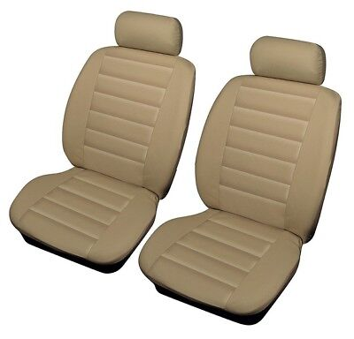 Shrewsbury Beige Leather Look Front Car Seat Covers For Jaguar S-Type, X-Type