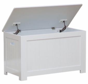 white timber storage box / bench - NEW UNOPENED BOX - RRP $199