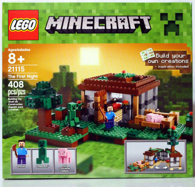 New Lego Minecraft The First Night Set 21115 Sealed