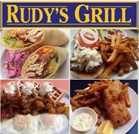 RUDY'S GRILL HIRING: Experienced line cook