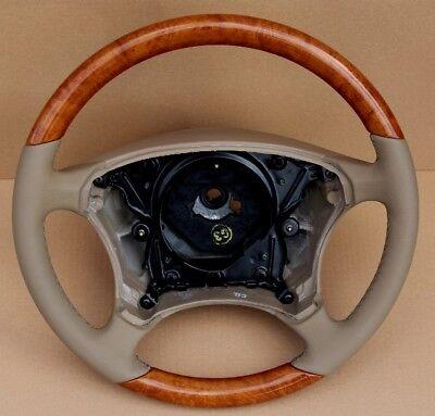 Lenkrad  KASTANIE HOLZ  LEDER HELIOS Mercedes W220  C215 W215 CL