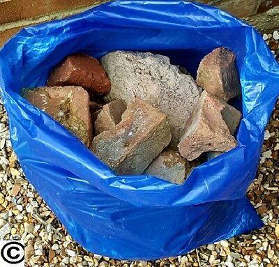 20 BLUE RUBBLE SACKS BUILDERS BAGS GARDEN BRICKS TILES