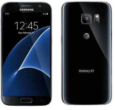 New Samsung Galaxy S7 SM-G930A - 32GB AT&T Unlocked Smartphone BLACK ATT Tmobile