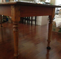 Antique Harvest Table 8 Feet by 3 Feet Knotty Pine
