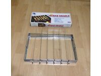 NEW BARBECUE CRADLE/STAND (inc 5 skewers) with FREE NEW PIE/PASTRY SHAPER, £10
