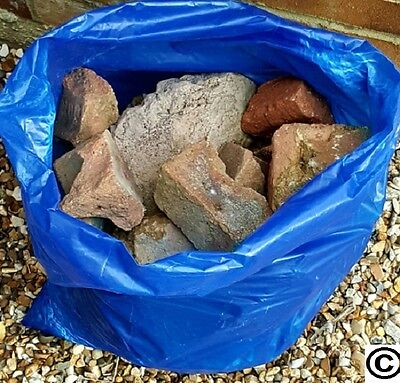 100 BLUE RUBBLE BAGS/SACKS DIY BUILDERS 71CM X 50CM  20