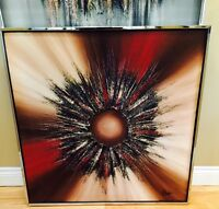 Beautiful Mid Century Modern Abstract Painting R Parret