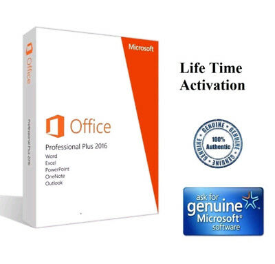 Microsoft Office Professional 2016 Brand New Genuine Wusb 2pc Install Free Ship