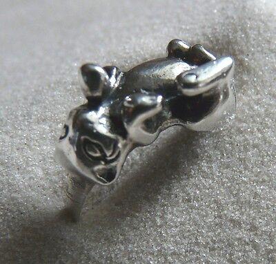 925 Silber KATZE Katzenring Gr. 60 Sterling Silver CAT Ring CHAT BAGUE 19,2 Ømm