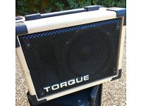 TORQUE T70CPA amplifier and speaker.