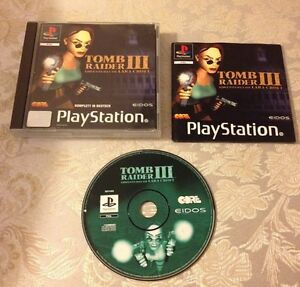 TOMB RAIDER 3 III SONY PLAYSTATION PAL GERMAN VERSION RARE