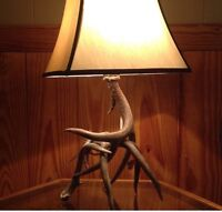 Antler lamp and coat rack