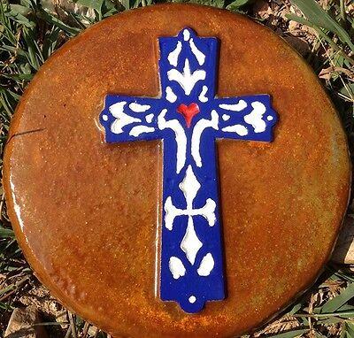 Cross 3, plaque, stepping stone,  plastic mold, concrete mold, cement, plaster
