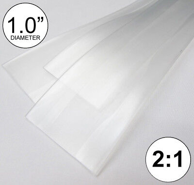 1.0 Id Clear Heat Shrink Tube 21 Ratio 1 Wrap 3x8 2 Ft Inchfeetto 25mm