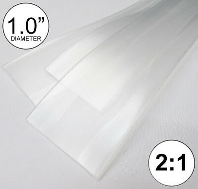 1.0 Id Clear Heat Shrink Tube 21 Ratio 1 Wrap 2x24 4 Ft Inchfeetto 25mm
