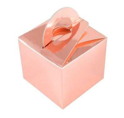 ROSE GOLD WEDDING FAVOUR PARTY GIFT BOX BALLOON WEIGHT BOX FAVOUR FROM UNDER 29P](Gold Balloon Weights)