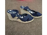 New Look Blue wedges size 6