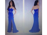 Gorgeous strapless blue formal dress/ evening gown, size 6, NEVER WORN