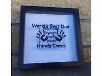 Father's Day gift - boxed frame ready for your favourite photograph