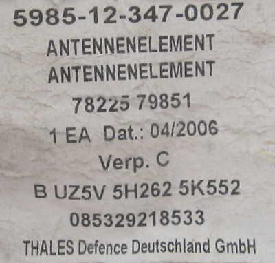 KFZ Antenne 46-58MHz BUND Funk Peitschenantenne SEM 217 Whip Antenna Element BW