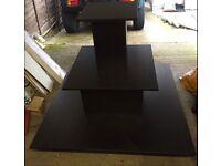 4 way black MDF display stand