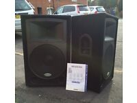 "Samson RS15 15"" Loudspeakers."
