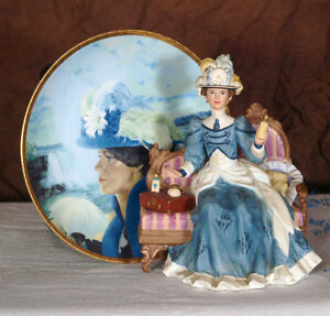 Avon Mrs Albee collector dolls and plates