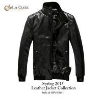Brand New PU Leather Designer Summer Spring Biker Jacket Men L M
