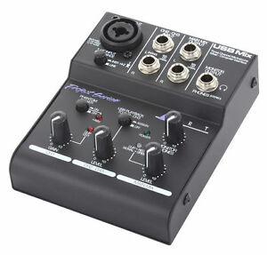 Three Channel Microphone Instrument and Line Mixer - USB Mix