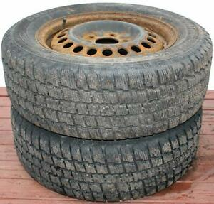 2 Studded Cooper Weather-Master 215/60R15 Tires