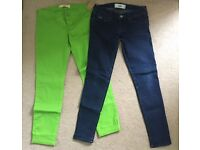 """2 Pairs of Ladies Immaculate HOLLISTER Jeans. Size 5 W27""""."""