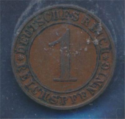 Deutsches Reich Jägernr: 313 1924 E sehr schön 1 Reichspfennig (7879677