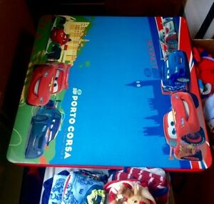 Disney Cars folding table (top is dry-erase!) and chairs