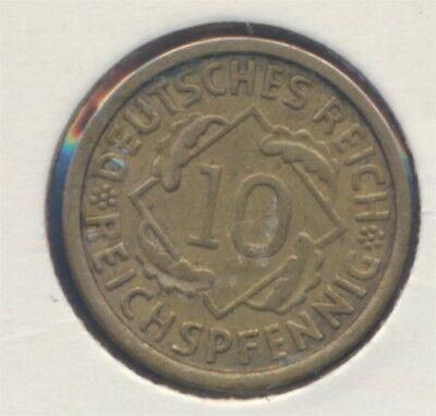 Deutsches Reich Jägernr: 317 1924 J vorzüglich 1924 10 Reichspfennig (7869100