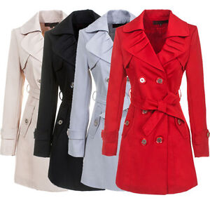 Womens-Fashion-Luxury-Spring-Fall-Long-Trench-Coat-Jacket-Outwear-Slim-fit-Hot