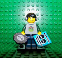 LEGO MINI FIGURINE SERIE 8 - DISC JOCKEY