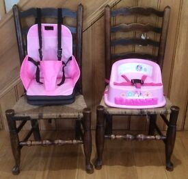 Toddler girls Feeding Booster seat and Travel Booster seat