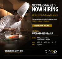 NOW HIRING ALL SERVICE AND CULINARY POSITIONS