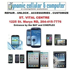 CELL PHONE REPAIR WINNIPEG. FREE screen protector!!