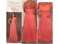 Stunning Mori Lee bridesmaid dress 14 coral