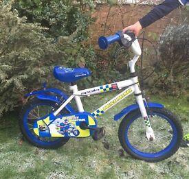 14 inch police bike (4-6 yrs)