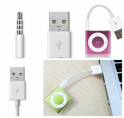 Portable USB Charger Data Sync Cable Cord For iPod Shuffle 3rd 4th 5th 6th segunda mano  Embacar hacia Argentina