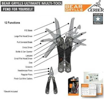 Bear Grylls Ultimate Multi-tool, Nylon Sheath