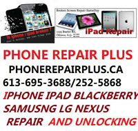 REPAIR IPHONE/IPAD/BLACKBERRY/SAMSUNG/NEXUS PHONE