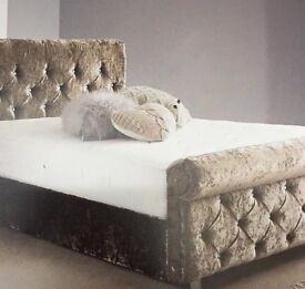 Bed double Crushed velvet