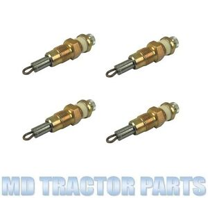 International B250 B275 A414 B414 434 444 w 4 Cyl Diesel Tractor Glow Plug Kit