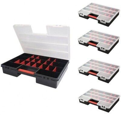 5 x Organizer Sortimentskasten Kleinteilemagazin Schraubenbox Werkzeugkasten